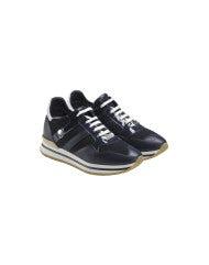 FRANTIC: Sneakers blu navy in pelle lucida e opaca