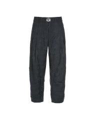 DHOW: Pantaloni con motivo floreale, blu navy