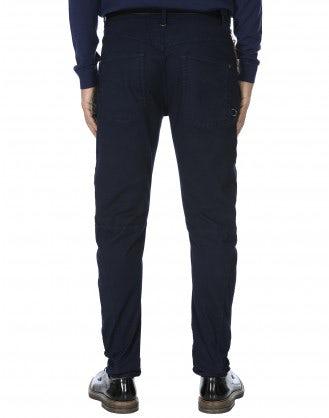 VICTOR: Pantaloni in twill stretch blu