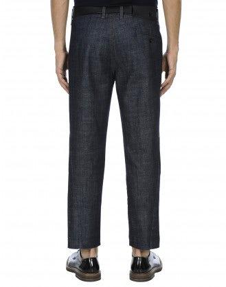"""HUBERT: Pantaloni ampi in denim """"clean rinse"""""""