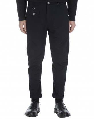 MAC: Pantaloni affusolati blu navy