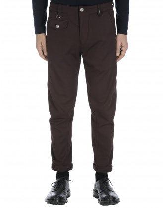 MAC: Pantaloni affusolati color borgogna