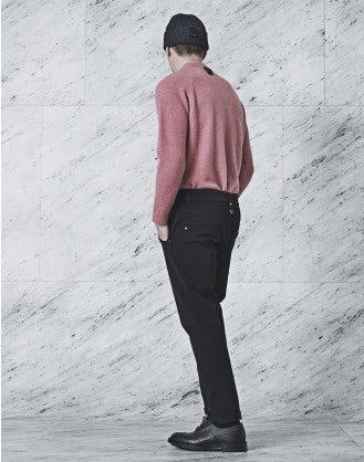 STEFAN: Black technical twill pants