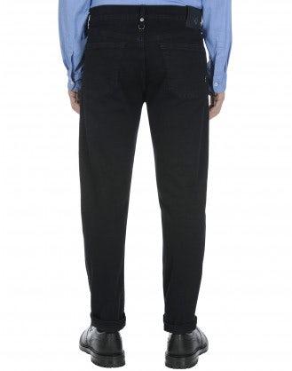 RENEGADE: Blue and black indigo jeans