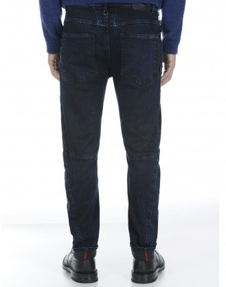 VICTOR: Tapered leg blue jeans