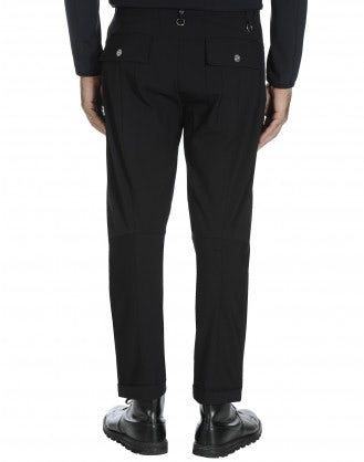 CLAMOUR: Black tapered leg pants