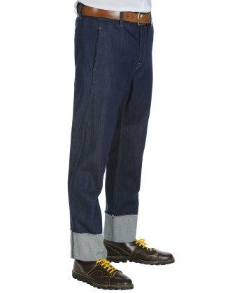 SEIZE: Man's wide leg pants in denim