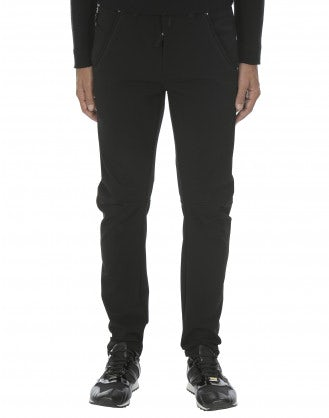 ERIK: Pantaloni neri con cuciture