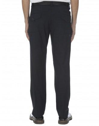 OLAF: Pantaloni in lana blu scuro