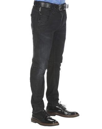 VICTOR: Jeans blu con scoloritura sfumata