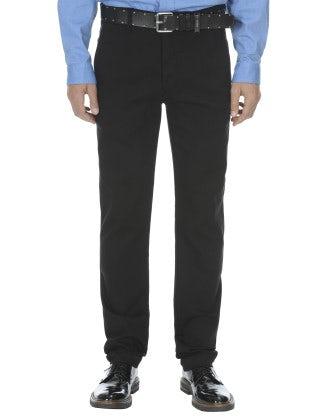 FERGUS: Jeans neri in cotone misto viscosa