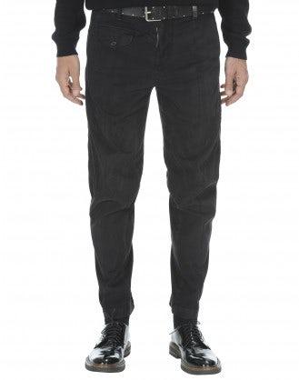 CLYDE: Pantaloni in cotone grigio carbone