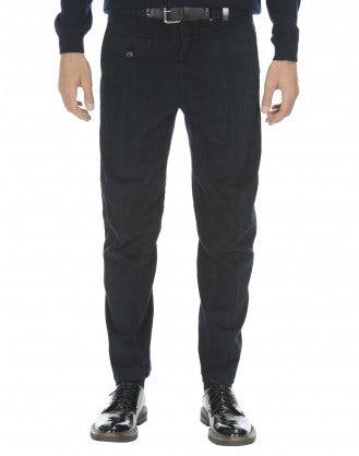 CLYDE: Pantaloni in cotone blu navy scuro