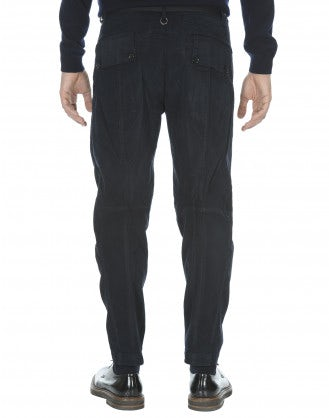 CLYDE: Pantaloni in cotone blu navy scuro