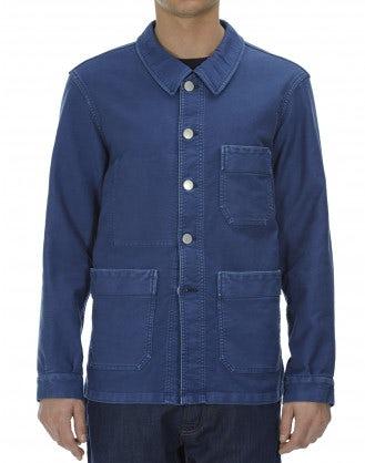 MENTION: Blue cotton work jacket