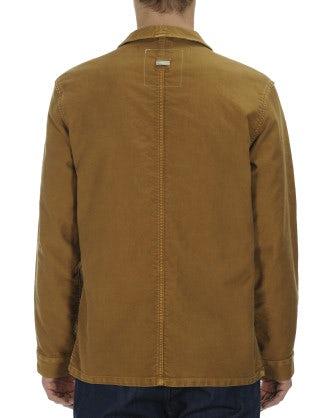 MENTION: Biscuit brown cotton work jacket