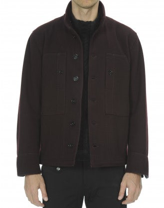 ANGUS: Giacca in lana stretch borgogna