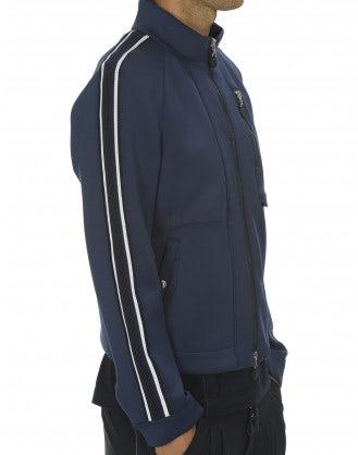 INGMAR: Giacca sportiva con zip blu marina