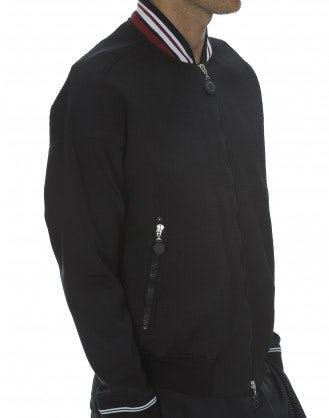 JOSEF: Giacca nera in jersey tecnico
