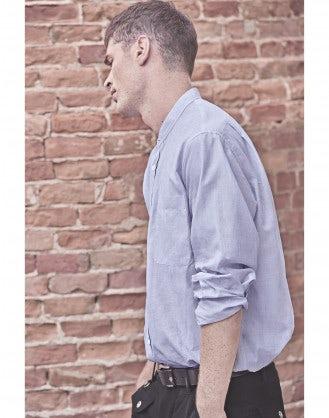 GLEN: Camicia in cotone azzurro cielo