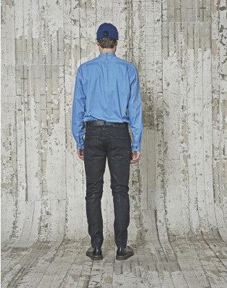 GLEN: Camicia in cotone spazzolato azzurro cielo
