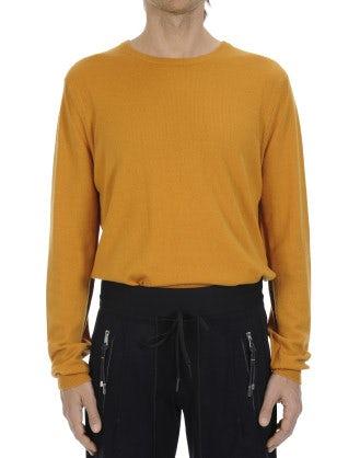 BLITZ: Maglione in cashmere giallo ocra