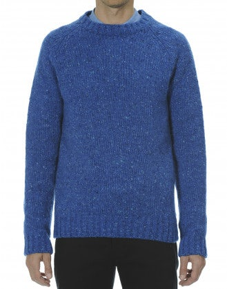 FRASER: Maglione blu Donegal