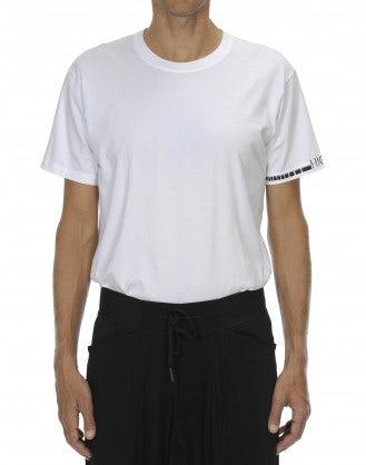 ANDERS: T-shirt tecnica bianca con logo