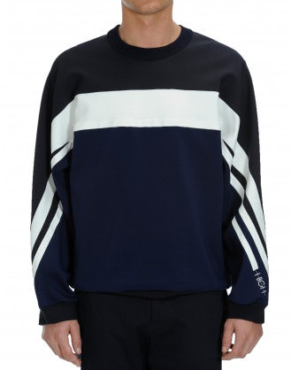 TATE: Sweatshirt style top in horizontal bands