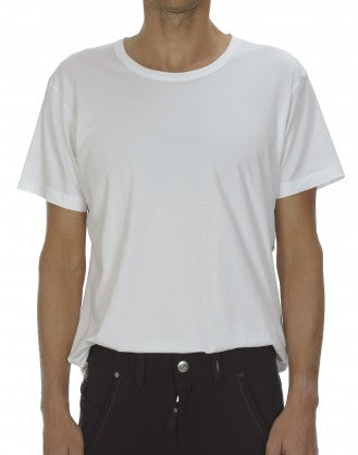 ANDERS: T-shirt bianca in jersey tecnico
