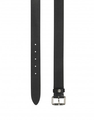 TURNER: Black leather belt