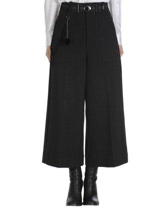 FREEWAY: Pantaloni in jersey a righe nere su grigio mélange