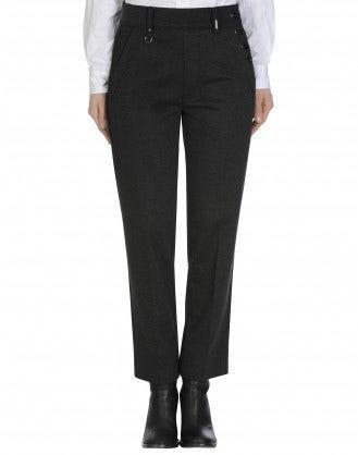 FIDGET: Pantaloni in jersey grigio mélange a gamba dritta