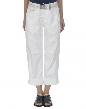 GO-AHEAD: Roll up raw edge culottes jeans