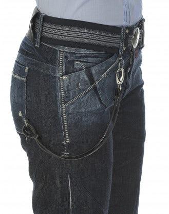 CAPTAIN: Blue flare jeans