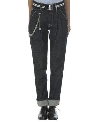 "SANDY: ""Clean rinse"" indigo tailor jeans"