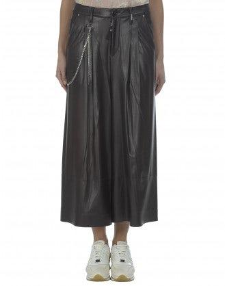 BRIG: Culottes in ecopelle borgogna scuro