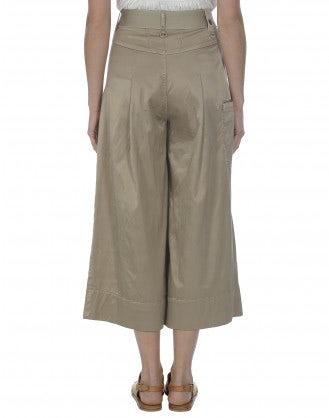 NAVAGAR: Biscuit silk-wash effect culottes