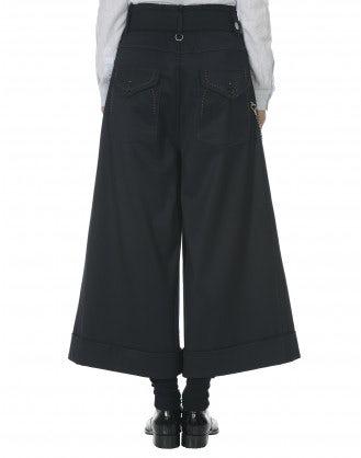 BUCCANIER: Pantaloni ampi in gabardina stretch blu navy