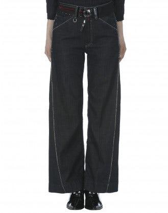 "CAPTAIN: Jeans a campana con trattamento ""resin"""