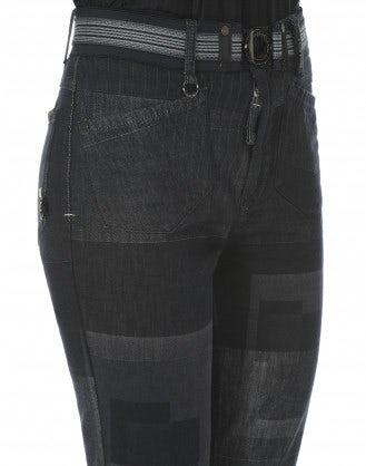 BEATNIK: Jeans bootleg multi pattern