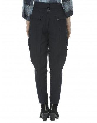 BRAVERY: Pantaloni gessati in stile cargo