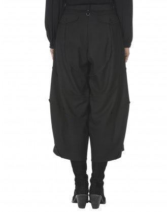 CRUISE: Pantaloni ampi neri a 3/4