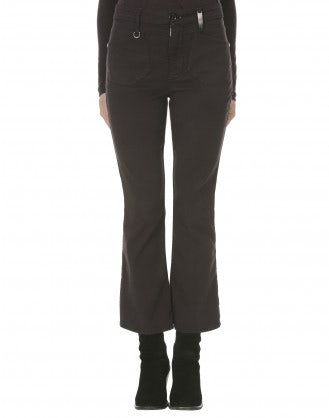BEATNIK: Pantaloni a campana color mora