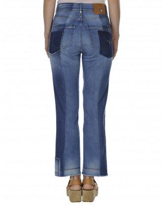 UP-START: Jeans con scoloritura e riparazioni