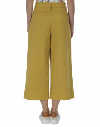 BELLBOY: Marigold cropped wide flares