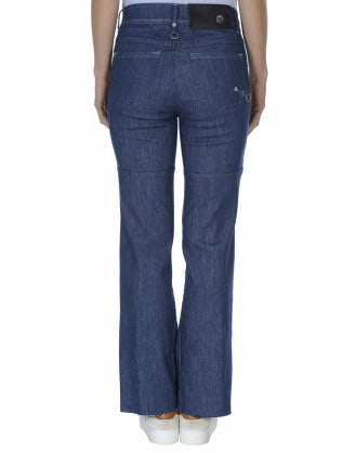 ASSERT: Flared multi-panel jeans