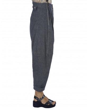INTENT: Pantaloni in lino spigato