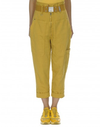 CLAMBER: High waist zip front pant