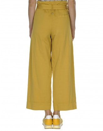 IN DEPTH: Marigold wrap-over & tie belt pant